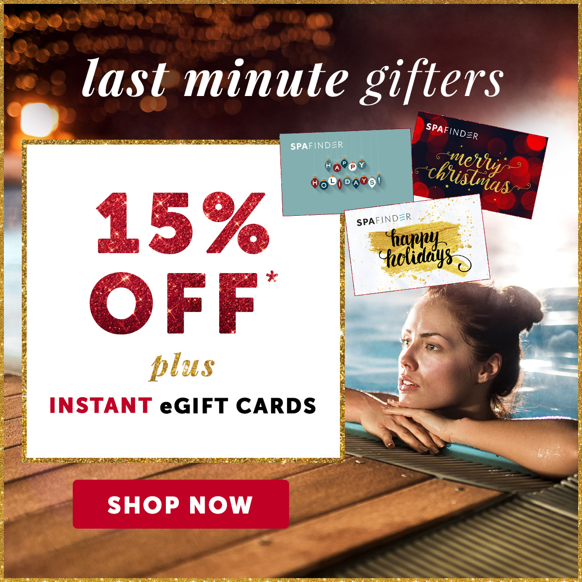 15% OFF + eGift Cards Instantly Delivered