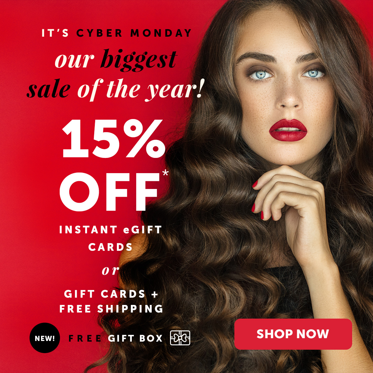15% OFF + FREE Shipping + NEW! Free Gift Box